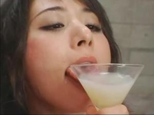 Girls Drinking Cum From Glass
