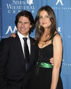 Katie Holmes & Tom Cruise at The Wiesenthal Center's National Tribute Dinner Honoring Tom Cruise in Beverly Hills on May 5, 2011
