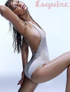 Jennifer Lawrence sexy bikini semi nude in Esquire photosession