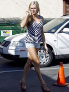 Lindsay Arnold - Hot legs in tiny shorts at DWTS rehearsals in Hollywood 10/8/13