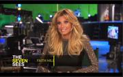 Faith Hill - new Sunday Night Football opening - behind the scenes screencaps - very short skirt!