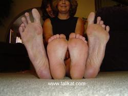 Huge feet footjob